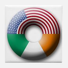 USA - Ireland Tile Coaster