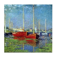 Monet Sailboats Argenteuil Tile Coaster
