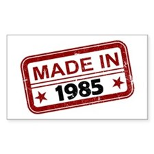 Stamped Made In 1985 Rectangle Decal