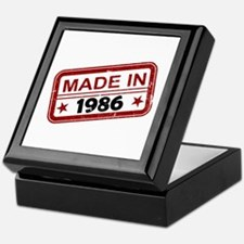 Stamped Made In 1986 Keepsake Box