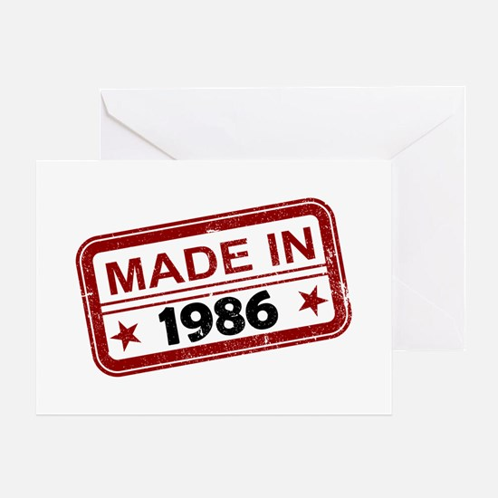 Stamped Made In 1986 Greeting Card