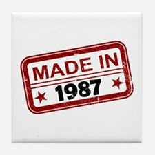 Stamped Made In 1987 Tile Coaster