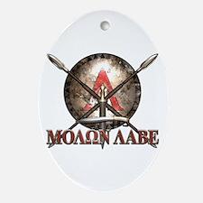 Molon Labe - Spartan Shield and Swords Ornament (O