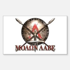 Molon Labe - Spartan Shield and Swords Decal
