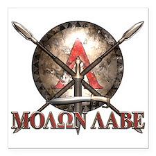 Molon Labe - Spartan Shield and Swords Square Car
