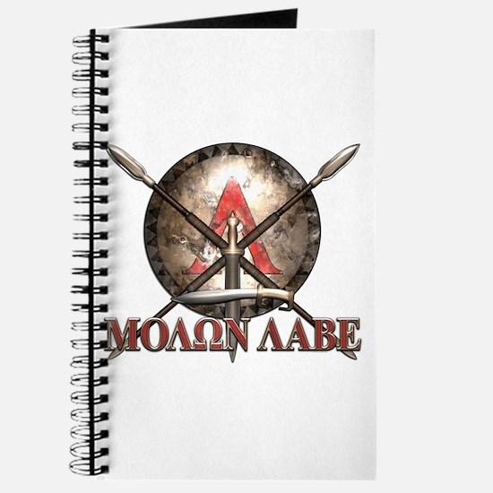 Molon Labe - Spartan Shield and Swords Journal