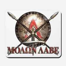 Molon Labe - Spartan Shield and Swords Mousepad