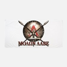 Molon Labe - Spartan Shield and Swords Beach Towel