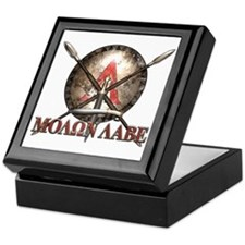 Molon Labe - Spartan Shield and Swords Keepsake Bo