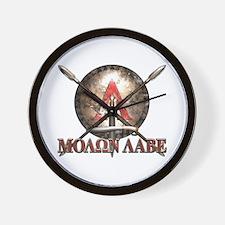 Molon Labe - Spartan Shield and Swords Wall Clock