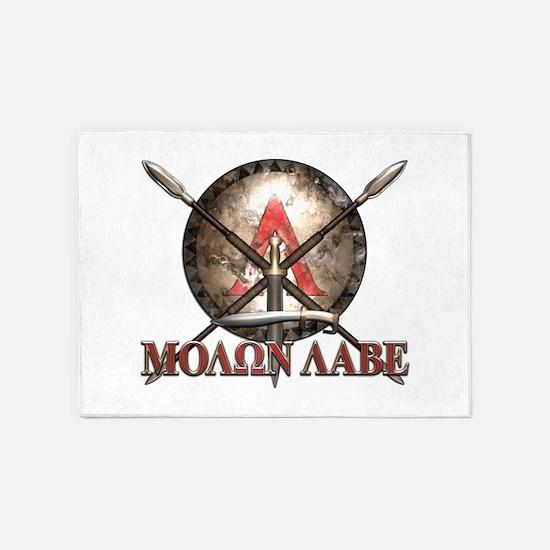 Molon Labe - Spartan Shield and Swords 5'x7'Area R
