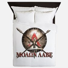 Molon Labe - Spartan Shield and Swords Queen Duvet