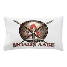 Molon Labe - Spartan Shield and Swords Pillow Case