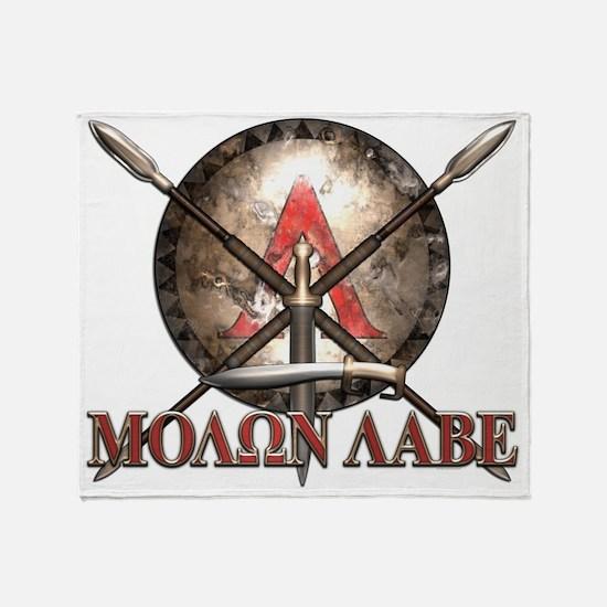 Molon Labe - Spartan Shield and Swords Throw Blank