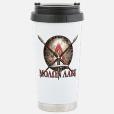 Molon Labe - Spartan Shield and Swords Travel Mug