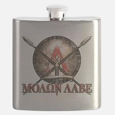 Molon Labe - Spartan Shield and Swords Flask