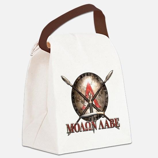Molon Labe - Spartan Shield and Swords Canvas Lunc