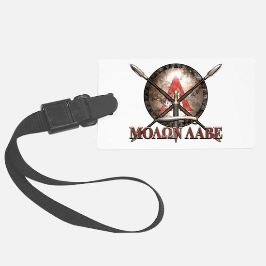 Molon Labe - Spartan Shield and Swords Luggage Tag