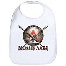 Molon Labe - Spartan Shield and Swords Bib