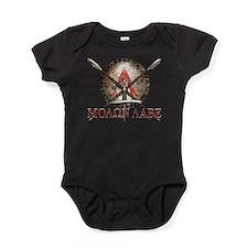 Molon Labe - Spartan Shield and Swords Baby Bodysu