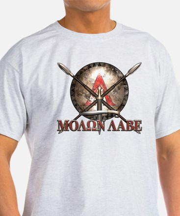 Molon Labe - Spartan Shield and Swords T-Shirt