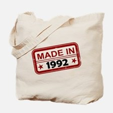 Stamped Made In 1992 Tote Bag