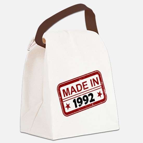 Stamped Made In 1992 Canvas Lunch Bag