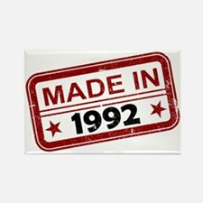 Stamped Made In 1992 Rectangle Magnet