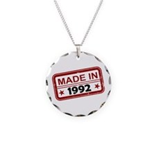Stamped Made In 1992 Necklace