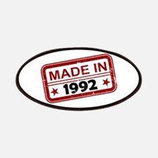 Stamped Made In 1992 Patches