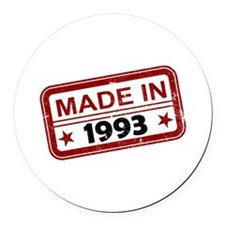Stamped Made In 1993 Round Car Magnet
