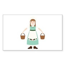 8. Milk Maid Girl Dairy Female Worker Decal