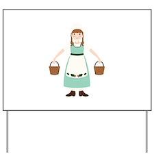 8. Milk Maid Girl Dairy Female Worker Yard Sign