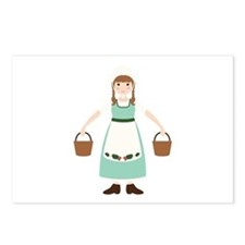8. Milk Maid Girl Dairy Female Worker Postcards (P