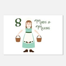 8 maiDS a-miLKiNG Postcards (Package of 8)
