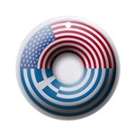 USA - Greece Ornament (Round)