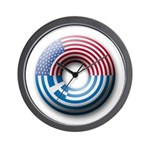 USA - Greece Wall Clock