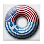 USA - Greece Tile Coaster
