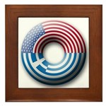 USA - Greece Framed Tile