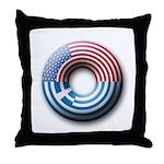 USA - Greece Throw Pillow