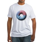 USA - Greece Fitted T-Shirt