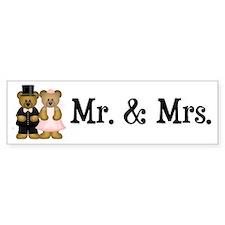 Wedding Bears Bumper Bumper Sticker