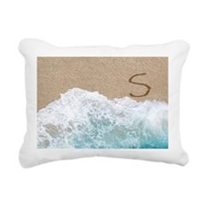 LETTERS IN SAND S Rectangular Canvas Pillow