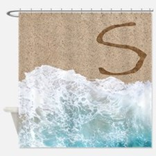 LETTERS IN SAND S Shower Curtain