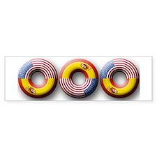 USA - Spain Bumper Bumper Sticker