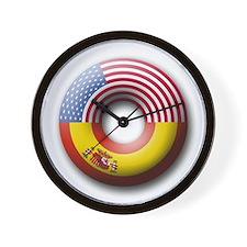 USA - Spain Wall Clock