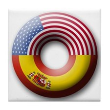 USA - Spain Tile Coaster
