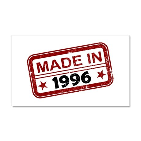 Stamped Made In 1996 Car Magnet 20 x 12