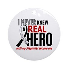 Carcinoid Cancer Real Hero 2 Ornament (Round)