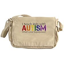 I teach kids with Autism Messenger Bag